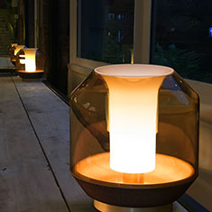 lateralis table lamp on table at night