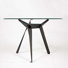 origami cafe table black side