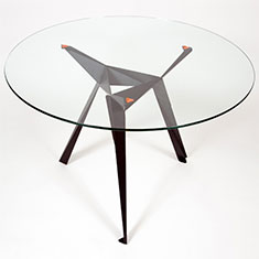 origami cafe table black 1