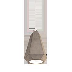 portland concrete and white pendant light