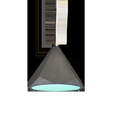 portland 37 concrete and aqua pendant light