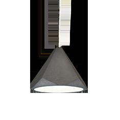 portland 37 concrete and white pendant light