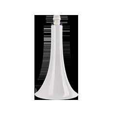 white trumpet base to lamp