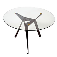 origami cafe table black