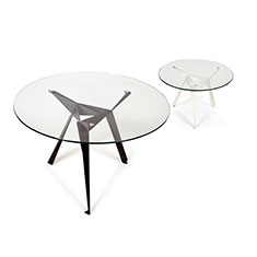 Slider Innermost Origami Family, Black or White with Orange tabs Side Tables