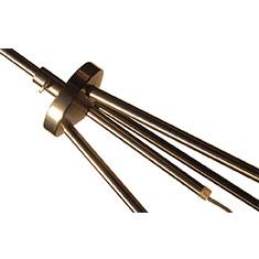 tripod floor lamp in brass detail