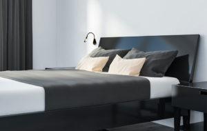 cobra nude in black at bedside turned on