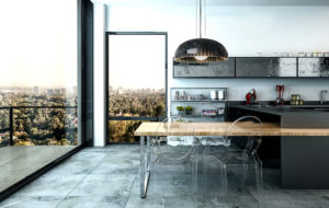 doric in kitchen space in new york usa