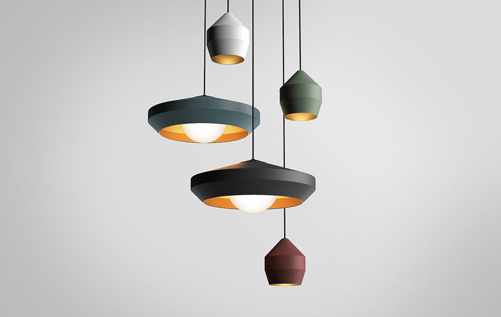 hoxton aluminium pendant light colour range