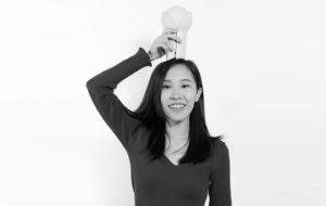 melissa yip with innermost portable bud lamp on her head