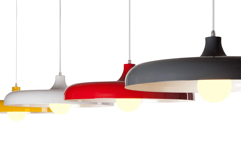 portobello aluminium pendant light colour range