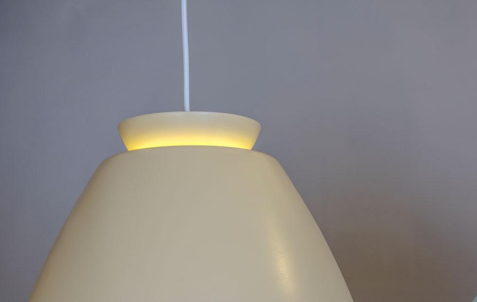 chelsea aluminium pendant light in nude closeup detail