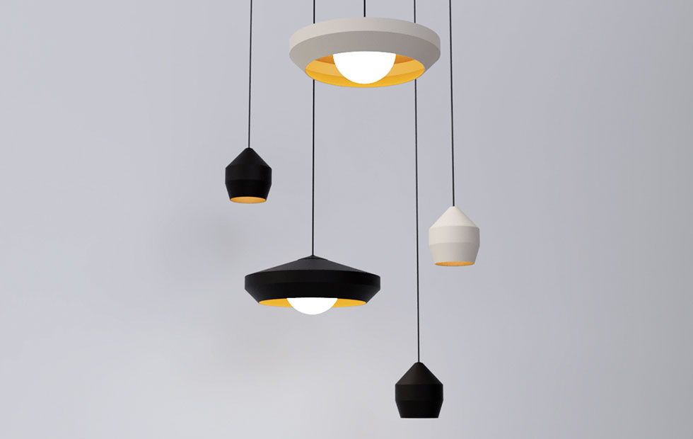hoxton lamp shade family in black and white