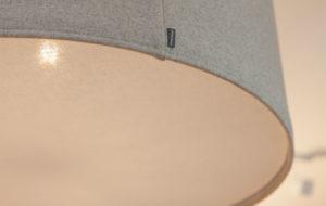 kobe wool lampshade in grey close up
