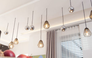 core and boule pendant lights cluster