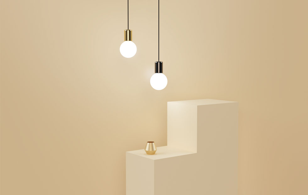 purl drop led pendant lights with a cup on a table