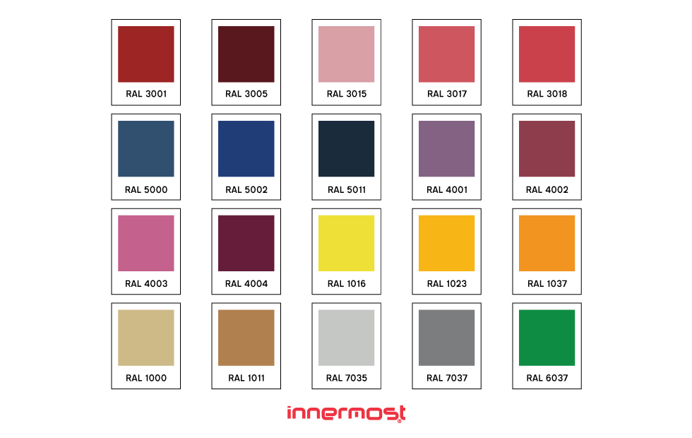 innermost custom colour ral swatches