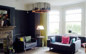 facet pendant light in a living room in london