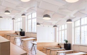 circus pendant light in grey at contentful offices in berlin