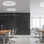 kepler halo flash mount in an office