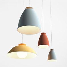 chelsea aluminium pendant light group colours