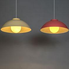 chelsea aluminium pendant lights in nude and terracotta