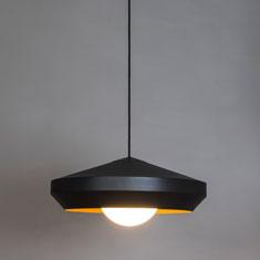 hoxton aluminium pendant light in black