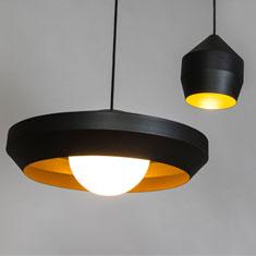 hoxton aluminium pendant light family in black