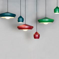 hoxton aluminium pendant light colour family