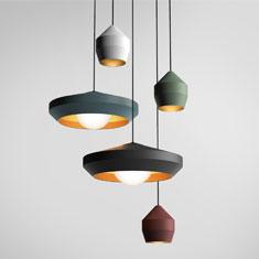 hoxton aluminium pendant light family colours
