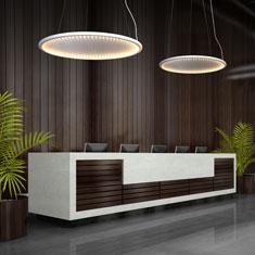 kepler halo in an office reception