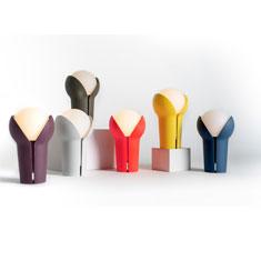 portable bud lamp colour range display