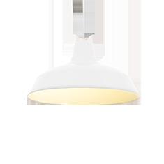 foundry white aluminium lamp shade