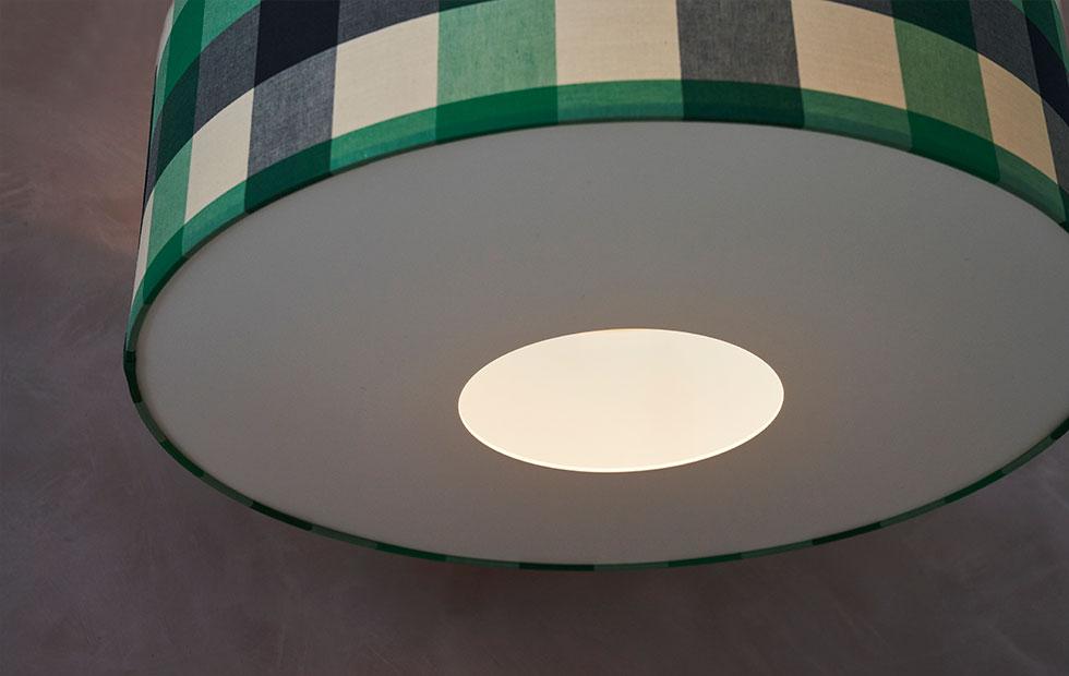 bespoke pendant donut lampshades