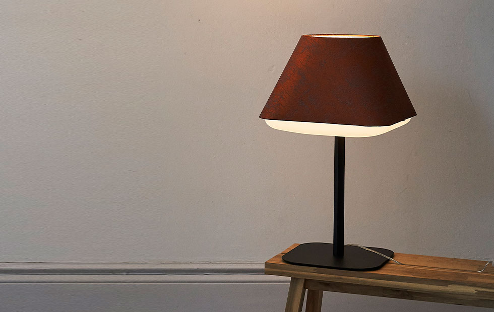 burnt orange rd2sq table lamp