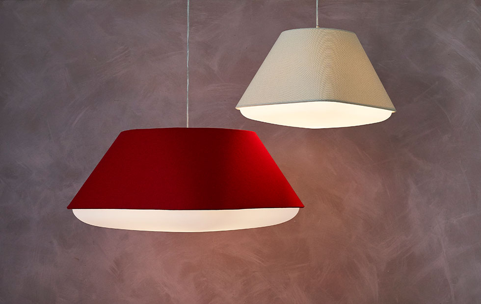 wenlock red and baumann white rd2sq pendant light