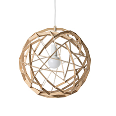 havas 50 birch wooden pendant light