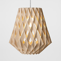 small pilke birch wooden pendant light
